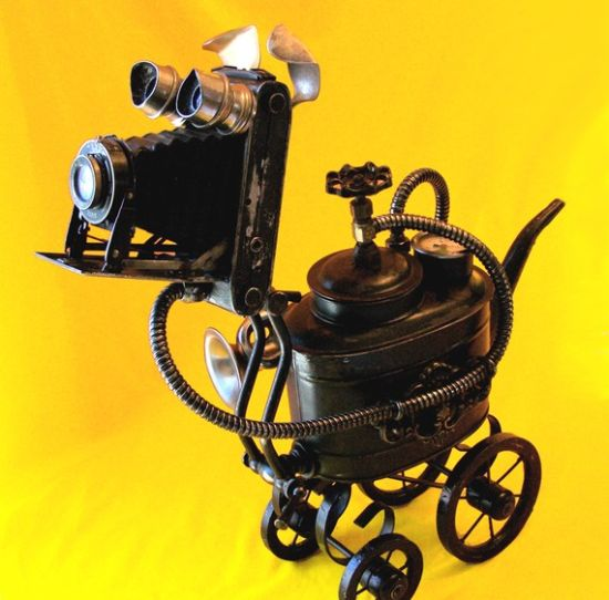 loopy recycled steam powered robot 1