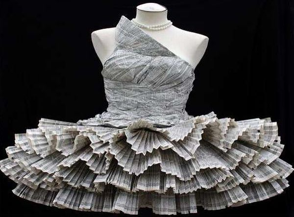 Magazine-Made Dress