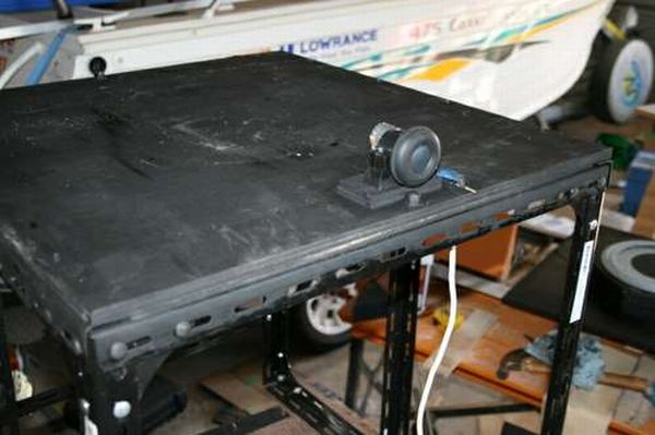 Motor and base plate installed