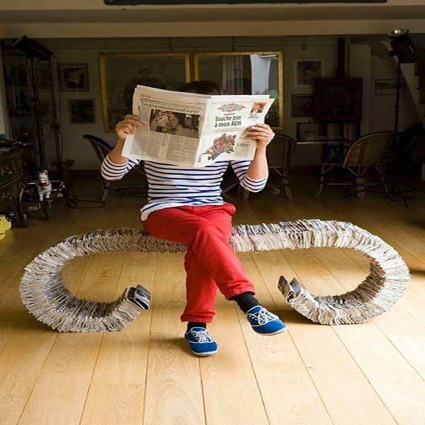 Newspaper Bench