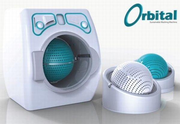 Orbital washing machine