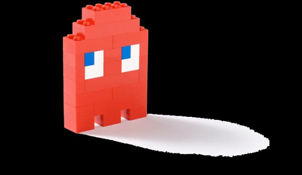 Pac Man Lego Brooch