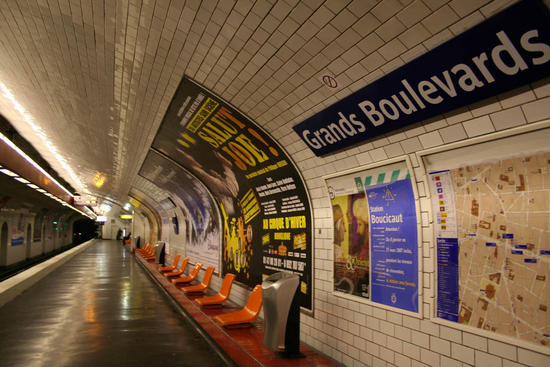 paris subway trains and riders to heat apartment b