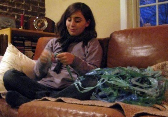 Plastic Bag Strips for Crocheting