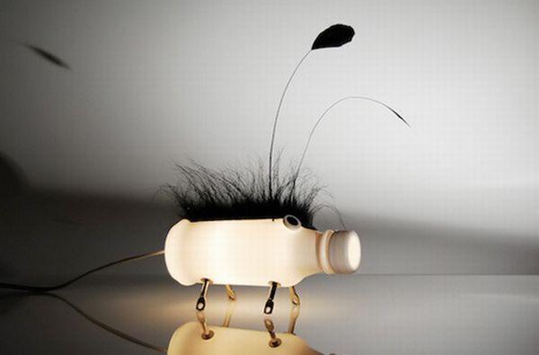 Plastic Bottle Creature Lamps