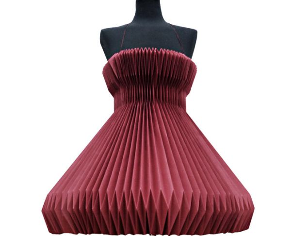 pleated paper dress 1