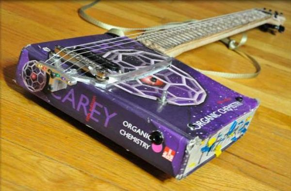 Praxis Guitars recycles discarded materials to make guitars