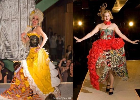 re stores trash fashion show1