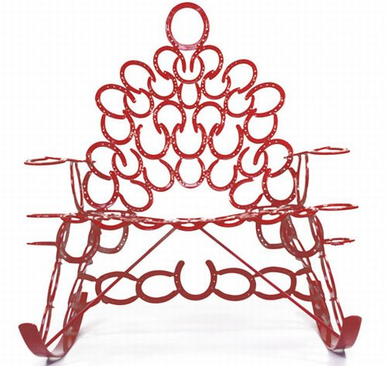 reclaimed horseshoe chair 2