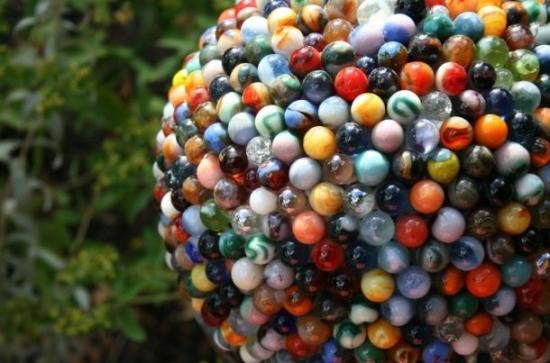 reclaimed marble garden ball2