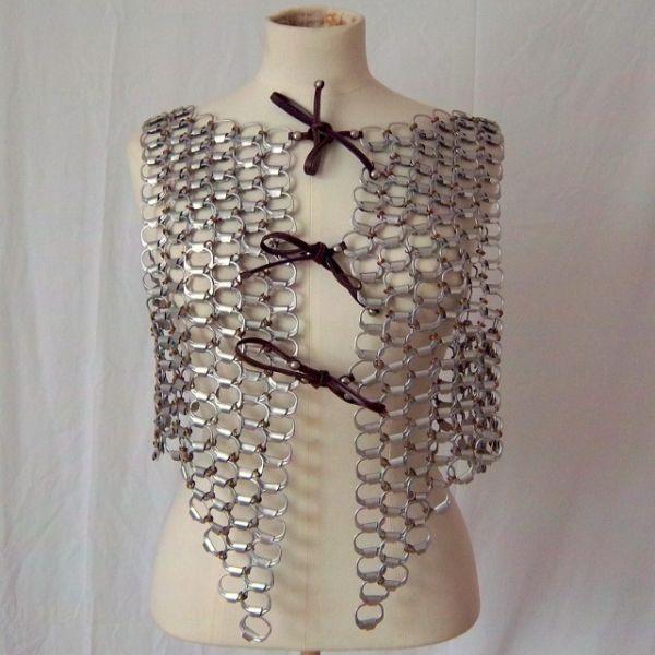 recycked pop tops vest and cap3