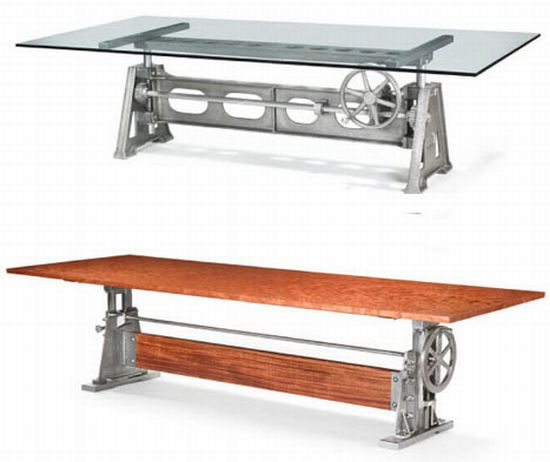 recycled factory machinery furniture 3
