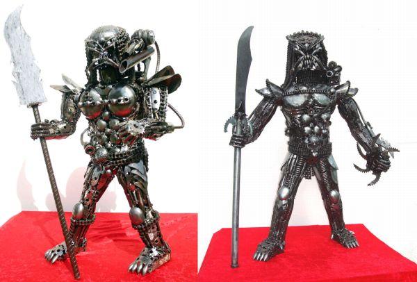recycled metal art sculptures 3