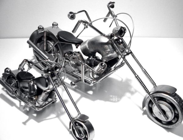 recycled metal motorcycle 7