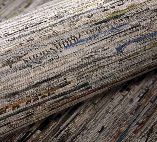 recycled newspaper wallcoverin newsworthy 2