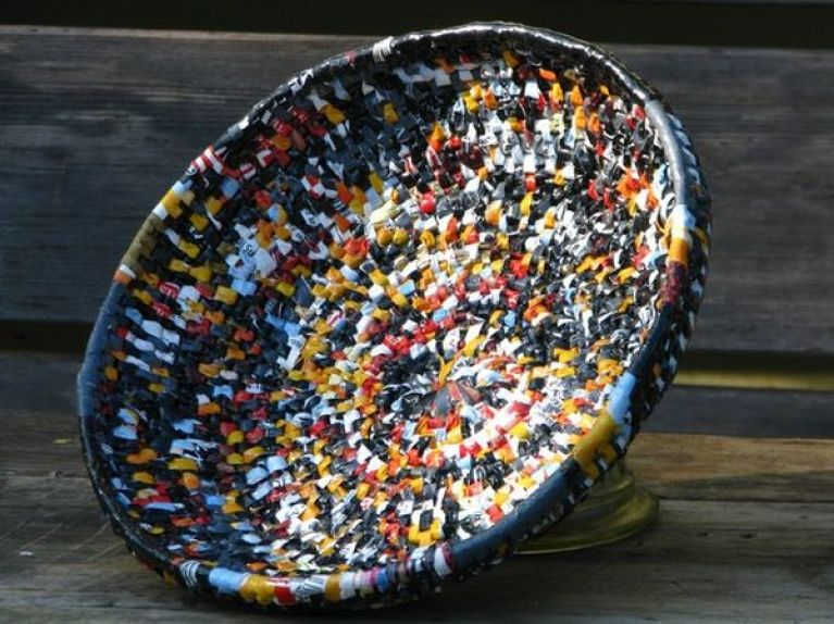 recycled plastic bag basket 1