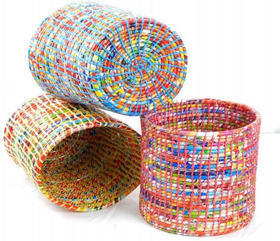 recycled plastic baskets