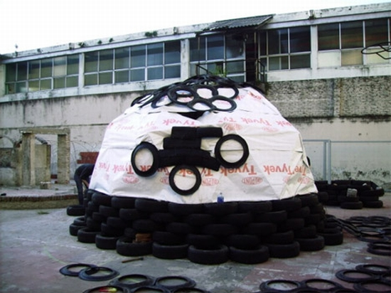 recycled tires home for haiti1