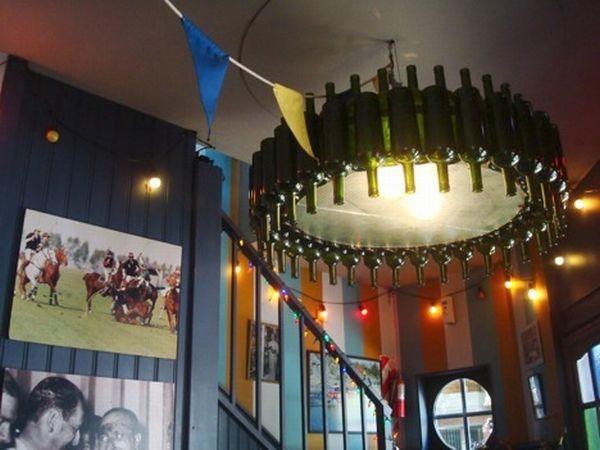 recycled wine bottle decoration 4