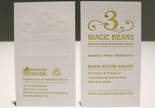 10 green business cards made using recycled paper | Green Diary ...