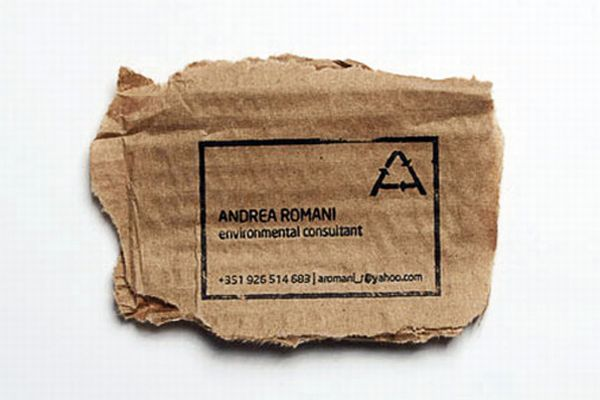10 green business cards made using recycled paper green diary recycled business card for an environment consultant reheart Choice Image