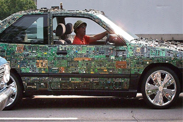 Recycled Circuit Board Car