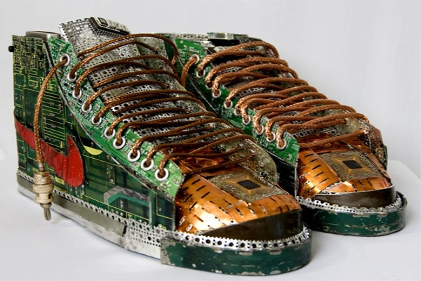 Recycled Circuit Board Sneakers