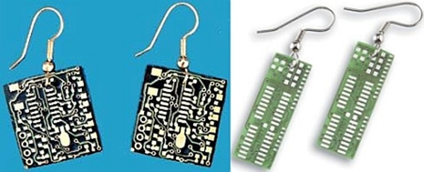 Recycled electronics jewelry