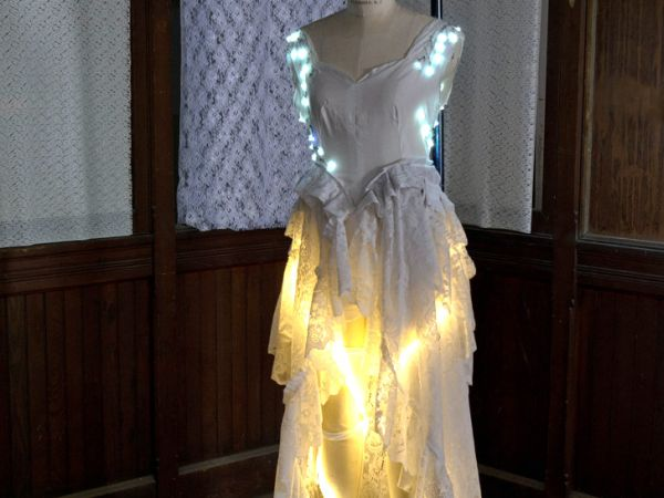 Recycled LED lit wedding gown 2