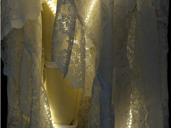 Recycled LED lit wedding gown 3