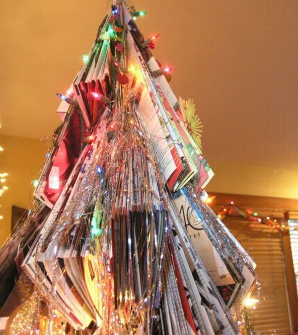 Recycled Magazines Christmas Tree