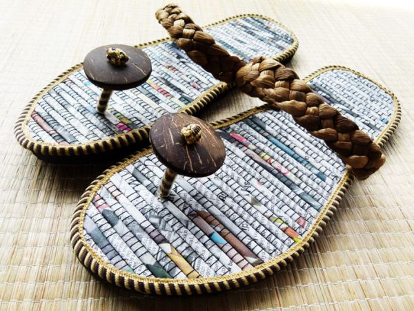 Recycled Newspaper Flip-Flops 3