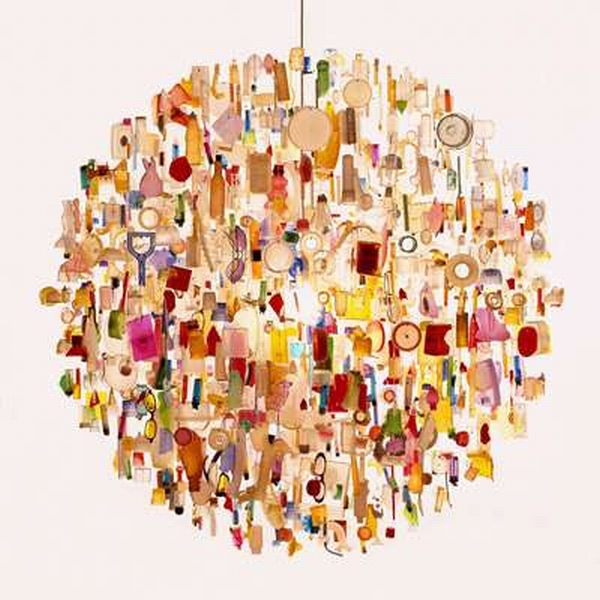 Recycled Objects Chandelier
