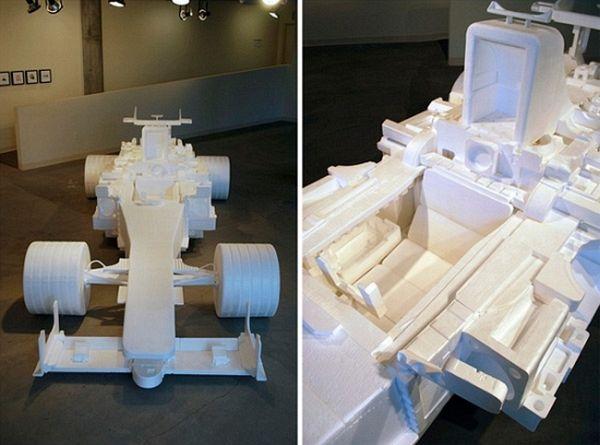 Recycled styrofoam