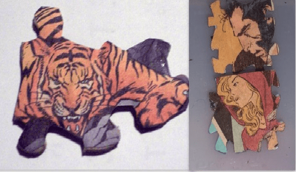 Recycled Tiger Art