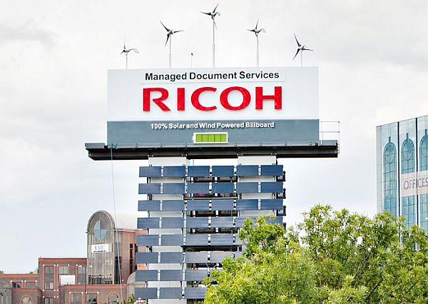 Ricoh self powered billboard