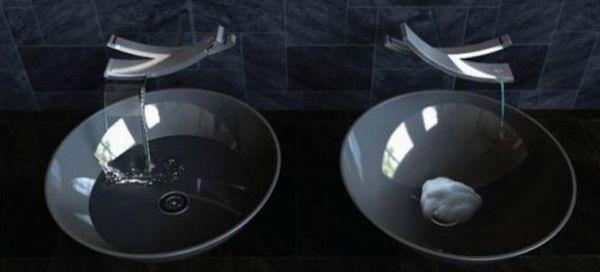 Seesaw water saving faucet