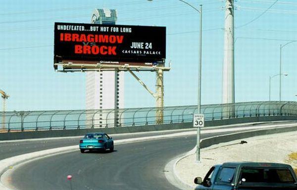 Self powered billboard