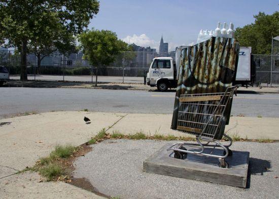 shopping cart sculptures 1