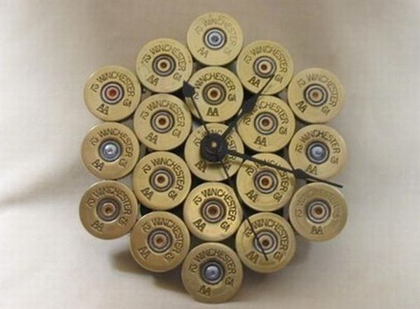 Shotgun shells clock