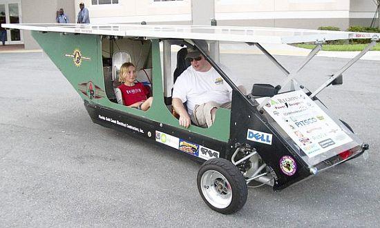 solar knight 1 solar car south plantation high sch