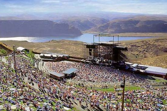 solar powered big foot stage at sasquatch