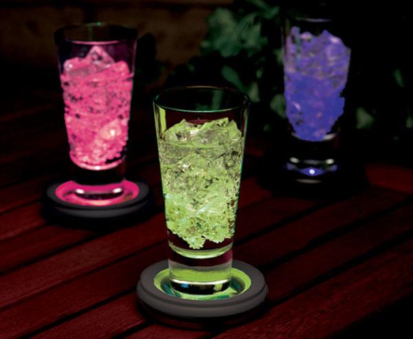 Solar drinks coasters