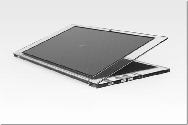 Solar Panel Powered Laptop