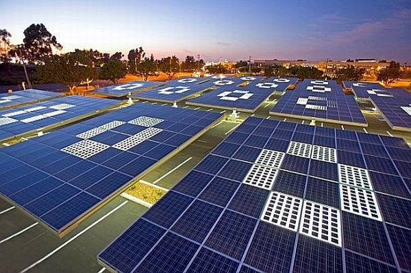 Solar parking lots as solar generators