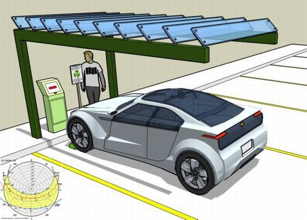 Solar Plug-in Car Station