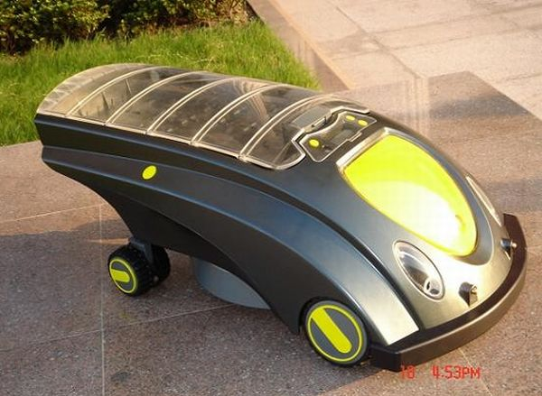 Solar-powered lawn mower