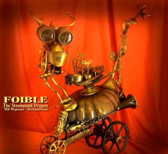 steampunk dragon robot 1