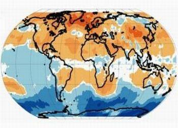 subtropics warming map