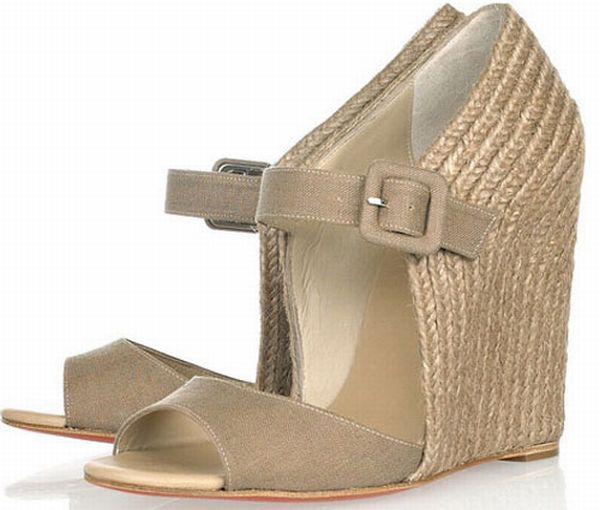 Taupe Espadrille Wedge